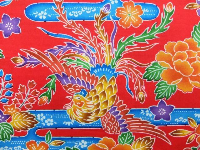 AP15504-3D 沖縄 琉球 紅型(びんがた)風プリント...