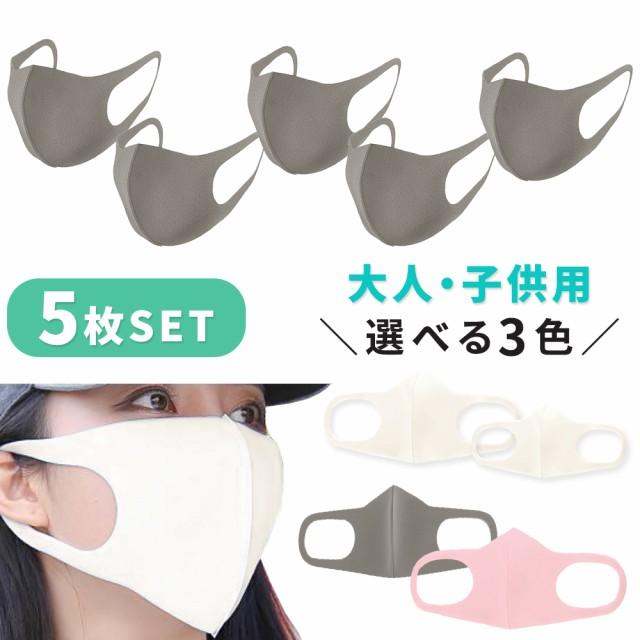 【在庫あり】マスク 洗えるマスク 5枚セット 個包...