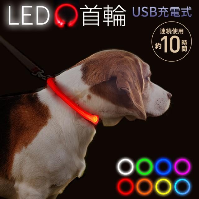 お散歩ライト LED 充電式 充電 光る首輪 光る ペ...