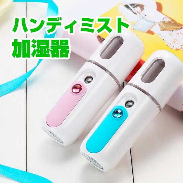 ハンディミスト 加湿器 スチーマー 小型 携帯 フ...