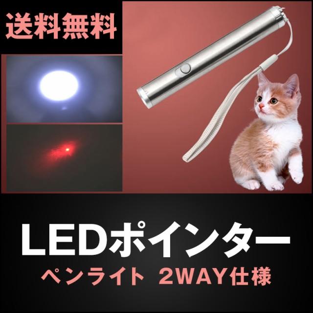 LEDポインター LEDライト 2WAY仕様 ペンライト 懐...