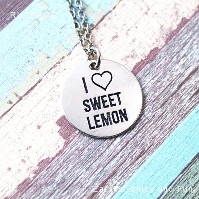 レディース メンズ ネックレス おいしい レモン ...