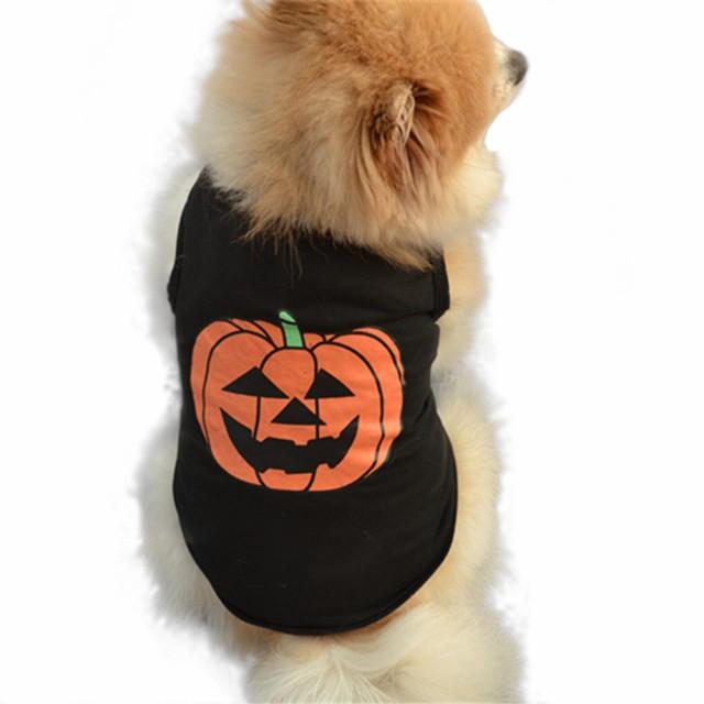 ワンちゃん ベスト ブラック かぼちゃ ハロウィン...
