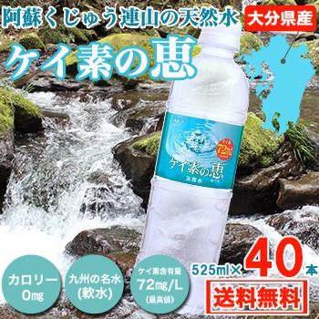 ケイ素水 シリカ水 525ml 40本 高濃度ケイ素水 大...