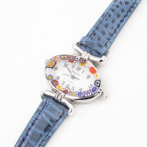 ベネチアンガラス 時計 腕時計 ウォッチ ブラッ...