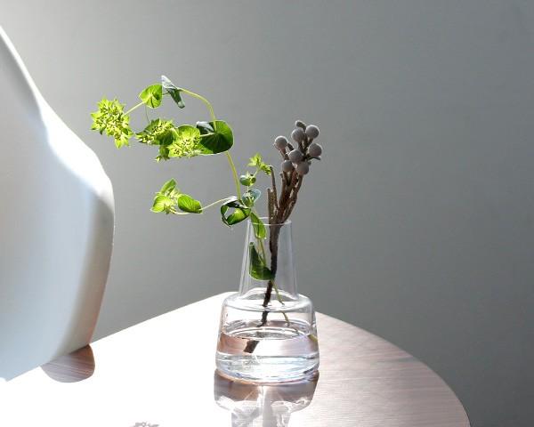 ホルムガード フローラ ベース 12cm ミディアム クリア Holmegaard Flora vase 【花瓶 マウスブロウ(