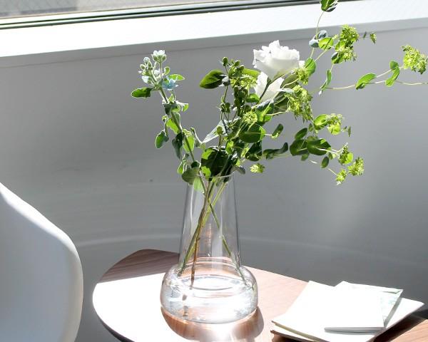 ホルムガード フローラ ベース 24cm ロング クリア Holmegaard Flora vase 【花瓶 マウスブロウ(手吹