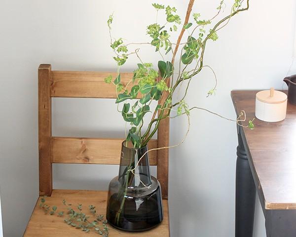 ホルムガード フローラ ベース 24cm ミディアム スモーク Holmegaard Flora vase 【花瓶 マウスブロウ