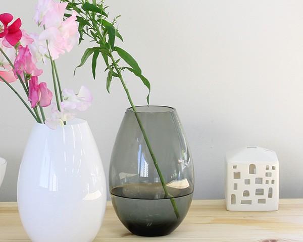 ホルムガード コクーン ベース 20.5cm スモーク Holmegaard Cocoon vase