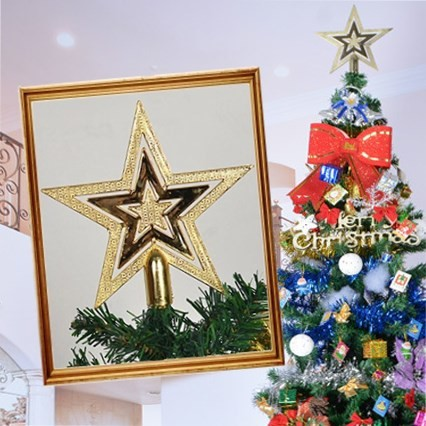★【15cm クリスマスツリートップ】 幸せを運ぶシ...