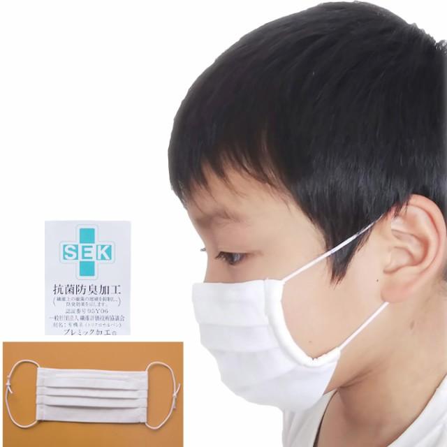 洗えるマスク白 2枚組 綿100% 高島ちぢみ 抗菌防...