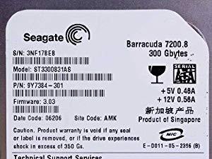 (中古品)Seagate ST3300831AS Barracuda 300GB内...