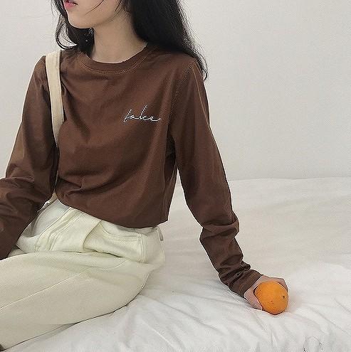 (取寄商品)Tシャツ レタリング シンプル 長袖 レ...
