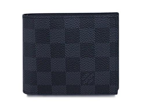 5cdc301904f0 ルイヴィトン 財布 N63336 LOUIS VUITTON ダミエ・グラフィット メンズ 二つ折り小銭入れ付き