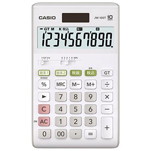 カシオ スタンダード電卓 W税率設定・税計算 ジャ...