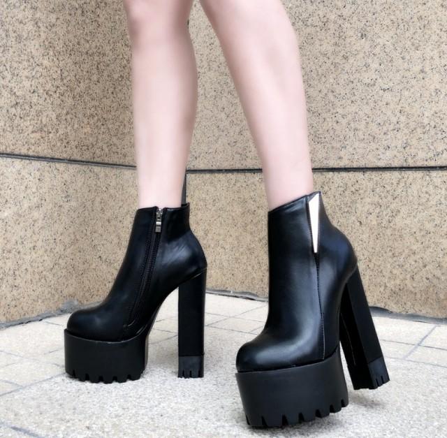 レディース 美脚着痩せ 上品質 履きやすい 厚底 ...