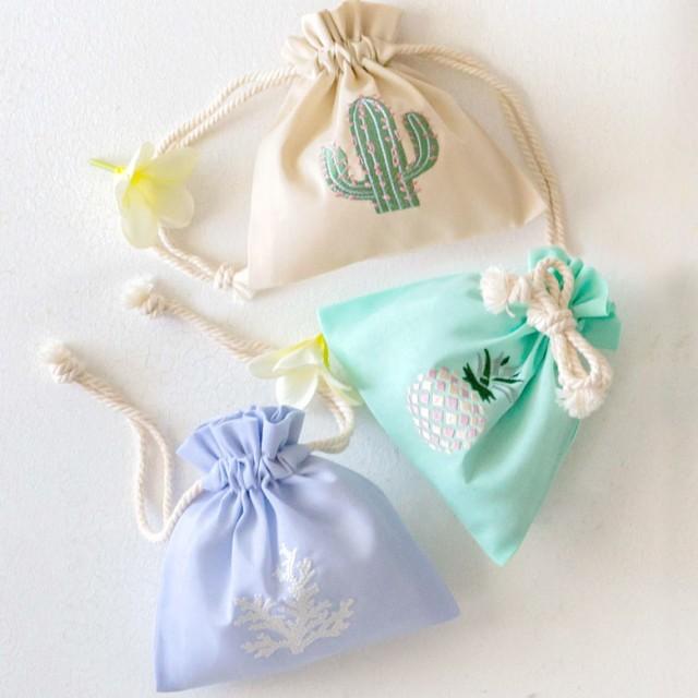 巾着袋 Sサイズ ベトナム 刺繍 オリジナル ポーチ...