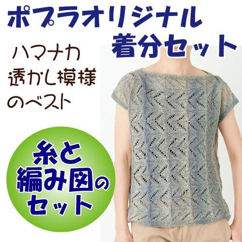 【春夏】透かし模様のベスト【中級者】【編み物キ...