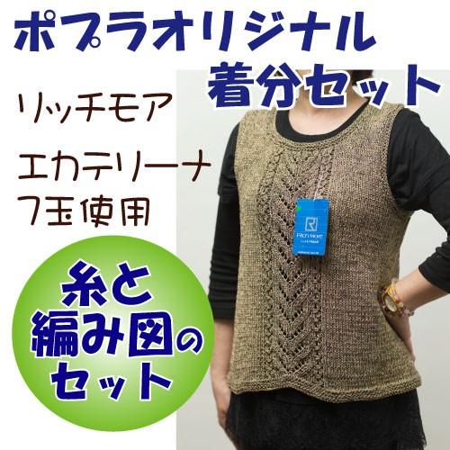 【春夏】バックスリットトップス【中級者】【編み...
