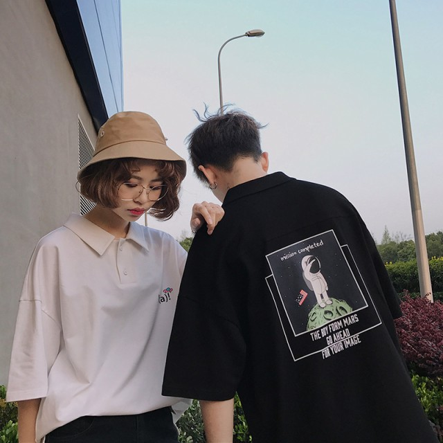 メンズ 半袖Tシャツ 韓国 トレンドTシャツ 恋人ハ...