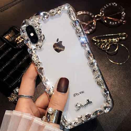 ビジュー ストーン クリア  スマホケース iPhone...