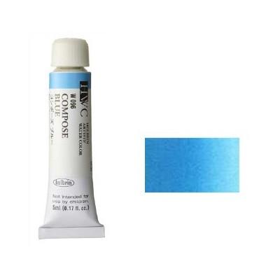 ホルベイン 透明水彩絵具2号(5ml)W096 青色 コ...