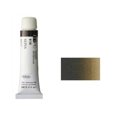 ホルベイン 透明水彩絵具2号(5ml)W136 茶色 セ...