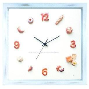 パン 掛け時計 かわいい