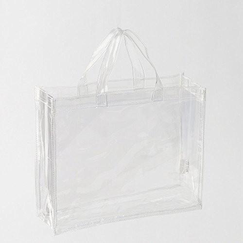 トートバッグ Mサイズ 透明ビニール A4対応 幅32 ...