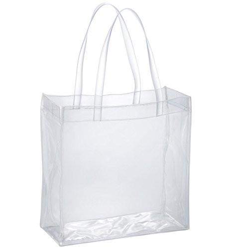 トートバッグ 大容量Lサイズ 透明ビニール 幅35 ...