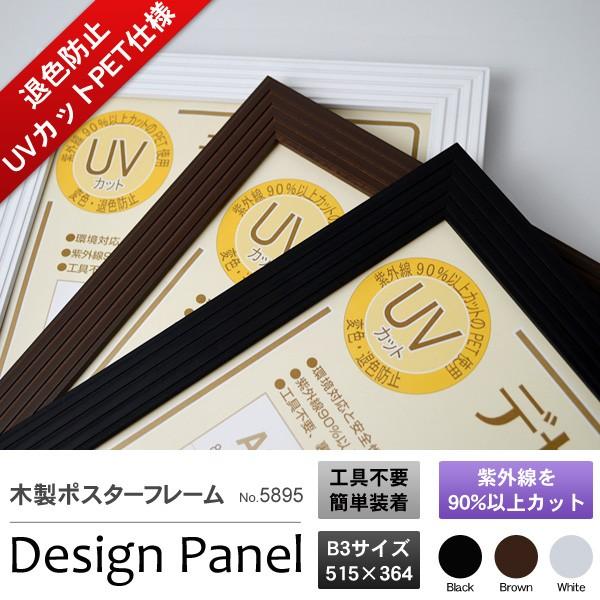 【UVカット】木製ポスターフレーム「デザインパネ...