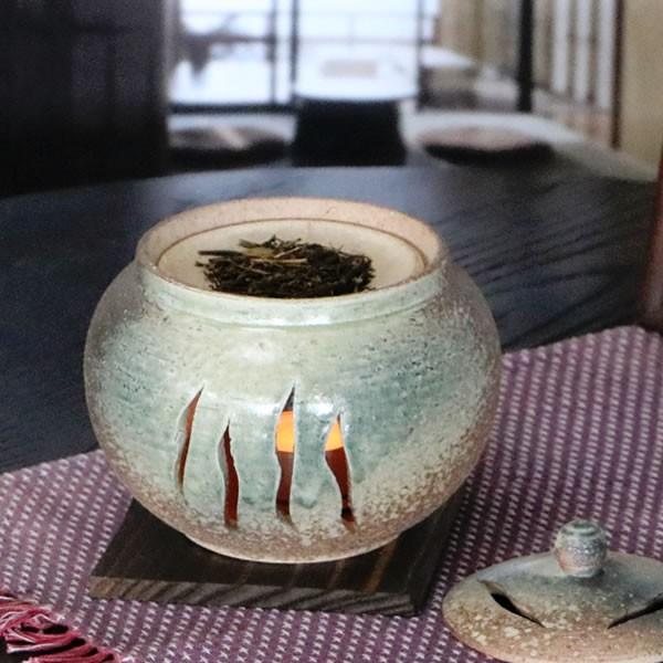茶香炉 陶器茶香炉 陶器アロマ 茶 しがらき 焼き...
