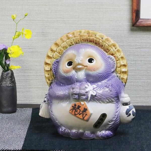 送料無料 風水狸(紫色) 福徳円満にご利益あり 縁...