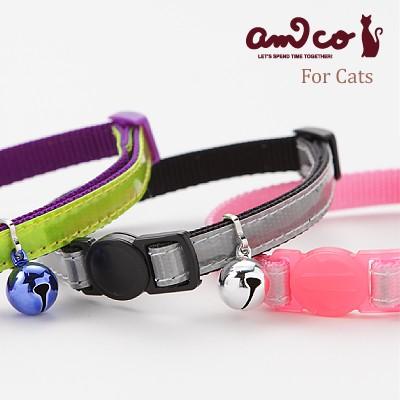 猫の首輪  安全 ラロック アミコ 光に反射する猫...