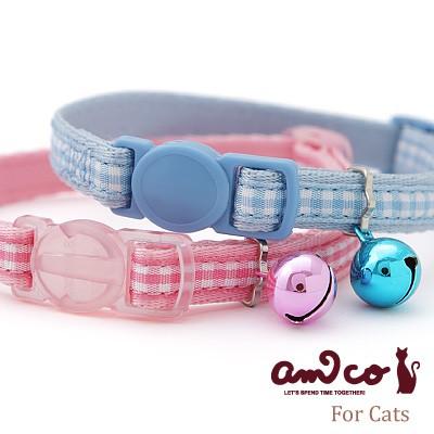 猫首輪 ラロック アミコ ライトチェック猫カラー ...