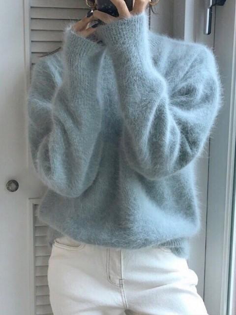 トップス ニット セーター 暖かい 秋 冬 綺麗め ...