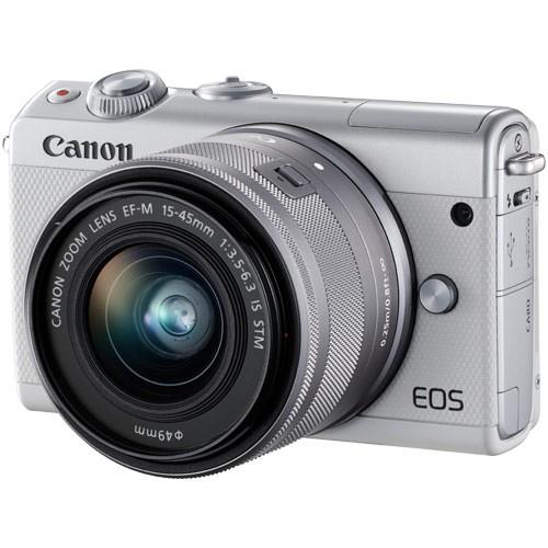 納期約2週間 Canon キヤノン EOSM100WH-1545ISSTM...