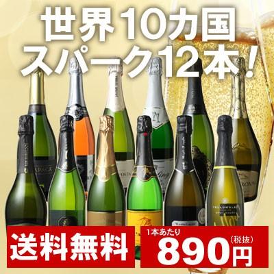 【送料無料】ワインセット 世界10カ国 辛口 スパ...