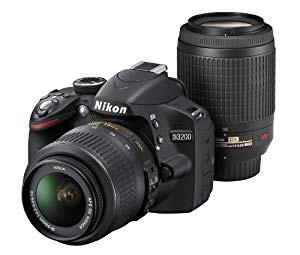 Nikon デジタル一眼レフカメラ D3200 200mmダブル...