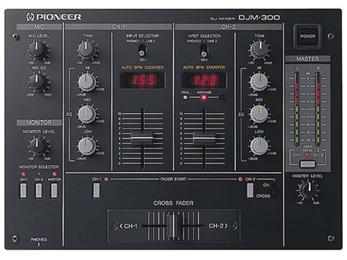 PIONEER パフォーマンスDJミキサー DJM-300 ブラ...