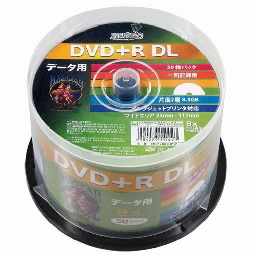 【HI-DISC】8倍速DVD+R DL PCデータ用[50枚スピン...