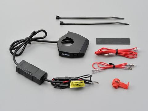 DAYTONA  デイトナ スレンダー USB 2ポート4.8A D...