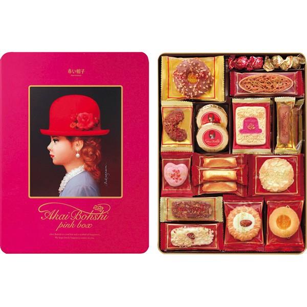 赤い帽子 ピンク クッキー 40個入 お菓子 詰め合...