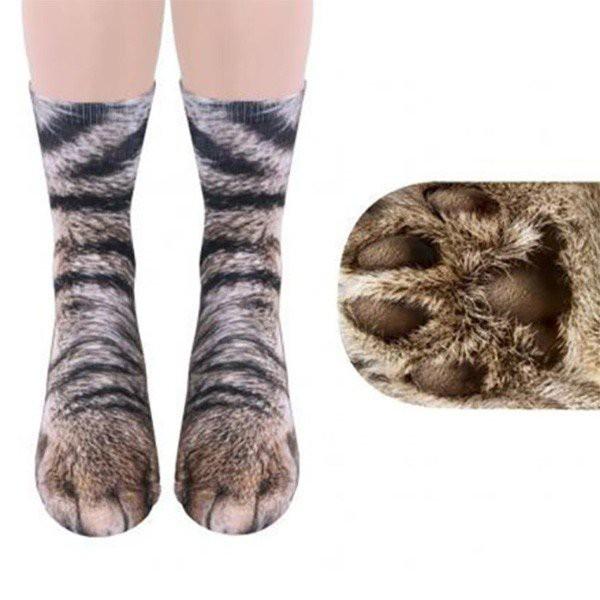 アニマルパターンソックス 猫 靴下 動物柄 1足 ね...