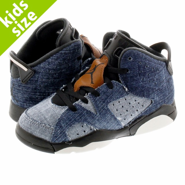 NIKE AIR JORDAN 6 RETRO PS WASHED DENIM/SAIL/V...