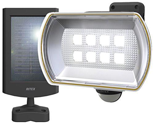 ムサシ RITEX フリーアーム式LEDセンサーライト(8...