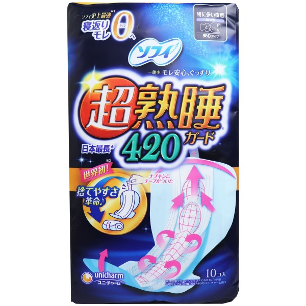 ソフィ 超熟睡ガード420 特に多い夜用 羽つき 42c...