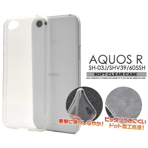 AQUOS R SH-03J/SHV39/605SH用ドットクリアソフト...