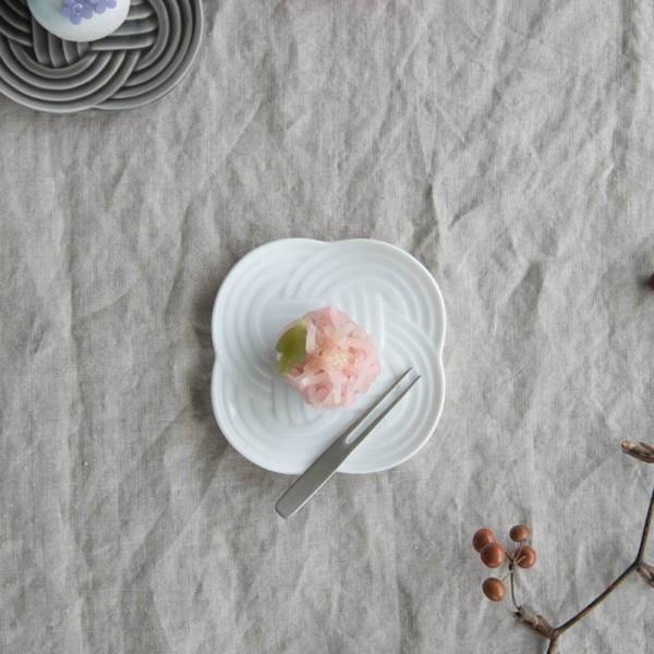 小田陶器 結(musubi) 10.8cm小皿 白