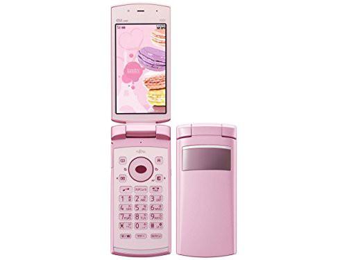 au F001 フレンチシェルピンク 携帯電話 白ロム ...